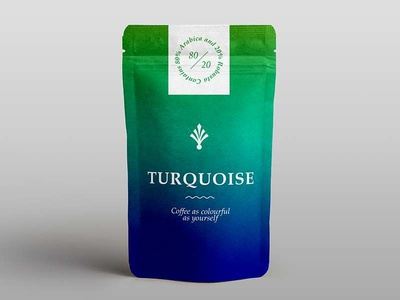 Turquoise Coffee Packaging
