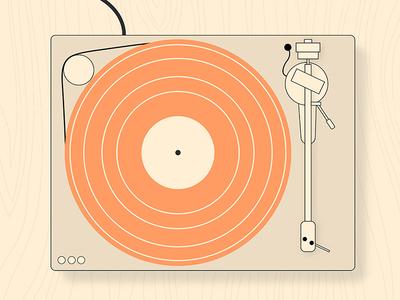 Vinyl Weekend Vector Player