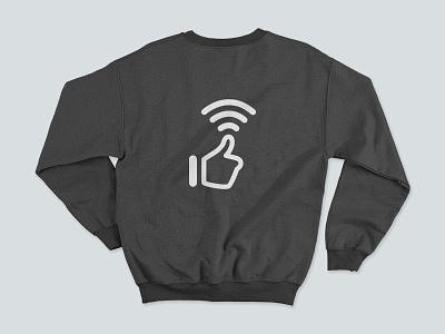 Thums up for Wifi tongueincheek illustration monochrome minimal jumper sweatshirt sweater apparel design clothing apparel wifi