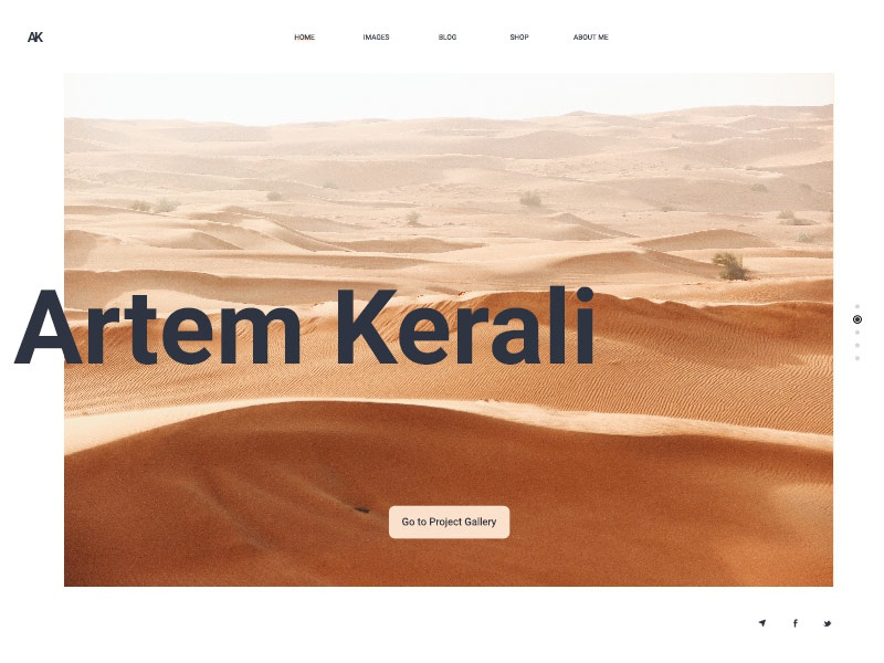Artem Kerali Photography Portfolio creative graphic branding largeimages photography black white minimal uiux ui hud digital development design web