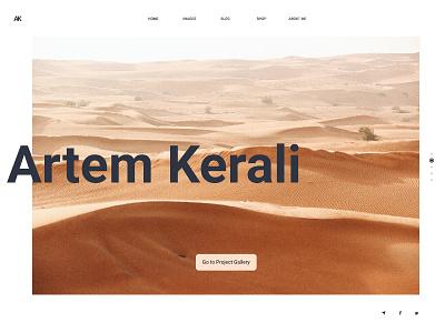 Artem Kerali Photography Portfolio creative graphic branding largeimages photography black white minimal uiux ui hud digital development design web