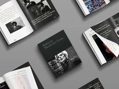 Berlin im Wandel der Zeiten editorial typography branding graphic creative print white black minimal design