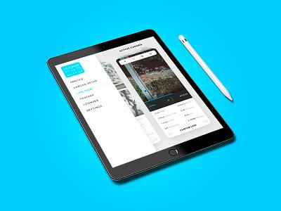 Gridlock iPad Interface controller app apps application app photography digital ux webdesign ui white creative design