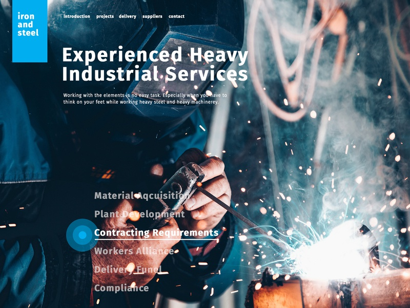Industrial Services Websit fui hud modern creative industrial web 2.0 development experience interface uiux ui digital design web