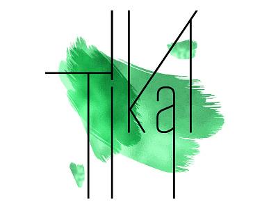 Tikal Restaurant Logo typography type green communication branding restaurant branding stationery smallbusiness business restaurant weekend sunday creative digital illustration design logo