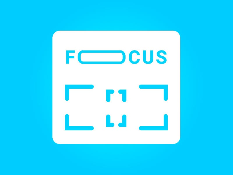 Focus App Icon wordmark logomark typography type blue identity branding design branding logo mobile icon app