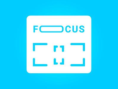 Focus App Icon wordmark logomark typography type blue identity branding design branding logo mobile icon app