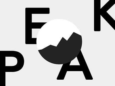 Peak Logo Design grey minimal logotype illustration small business typography branding wordmark creative design logo