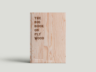 The Big Book On Plywood handcrafted wood creative indesign adobe editorial image cover book offset print design