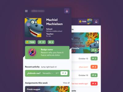 Student account profile