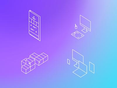 Promo icons lines graphic design promo illustration icons