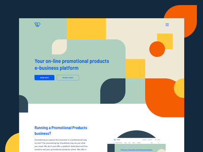 Marketing homepage for Promo pattern ui header webdesign website marketing