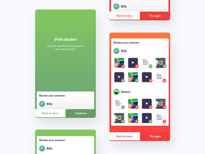 Finishing screens ui ux gamification mobile education modal platform learning