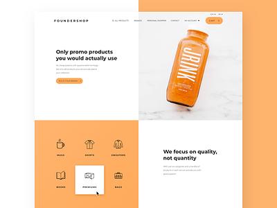 Foundershop new design shop website webdesign ui pattern marketing header