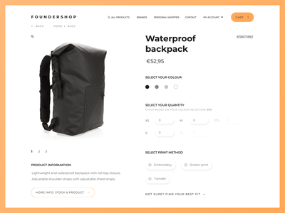 Product view page website webshop store shop product ux ui