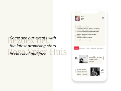 Event page calm responsive mobile website ux ui webpage