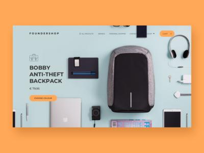 Foundershop discover product page desktop