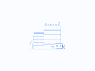 Shipping update icon illustration
