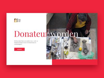 Donation page webpage website donate header