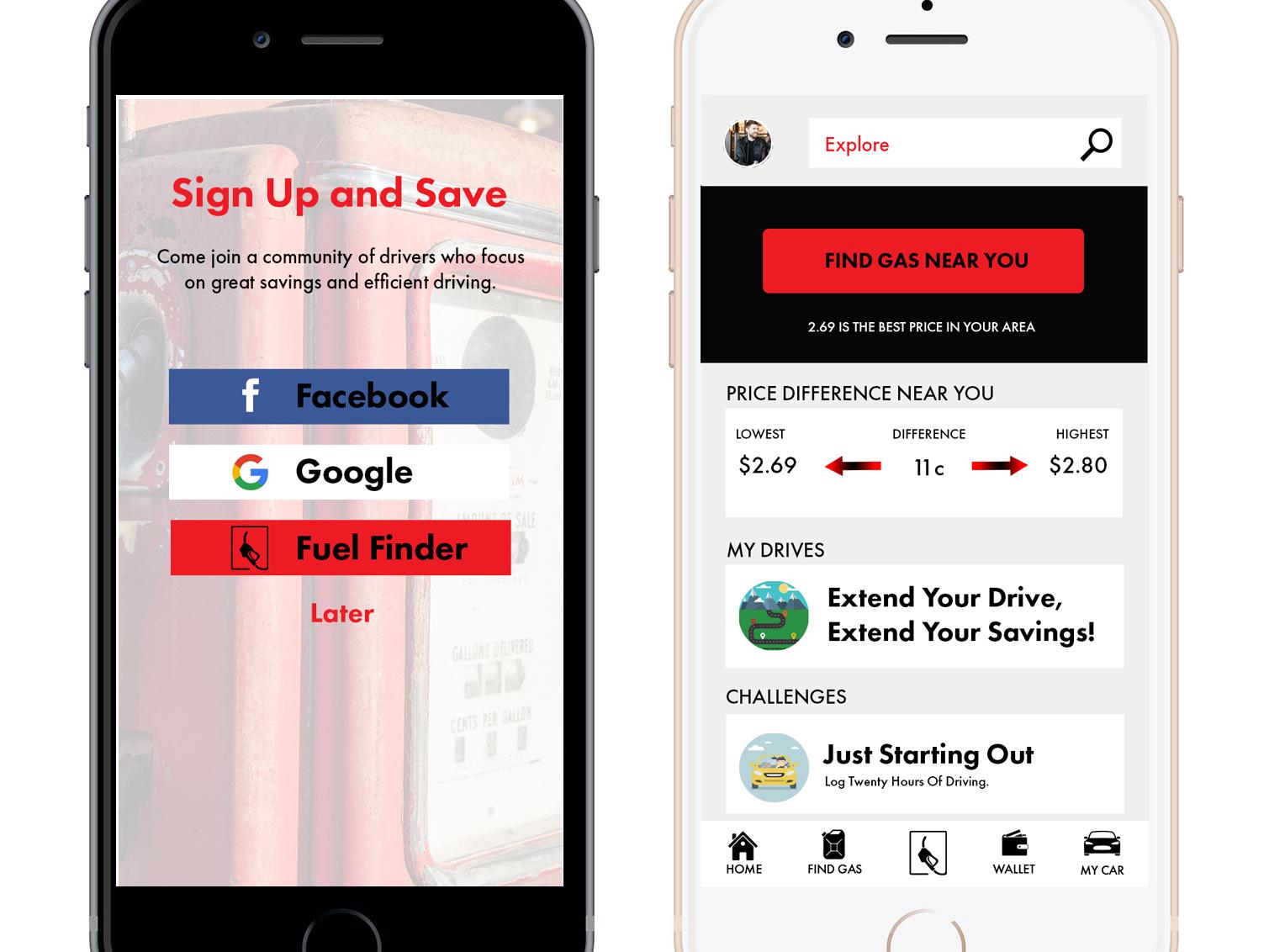 Gas Finder App >> Fuel Finder App By Shane Stofferan On Dribbble