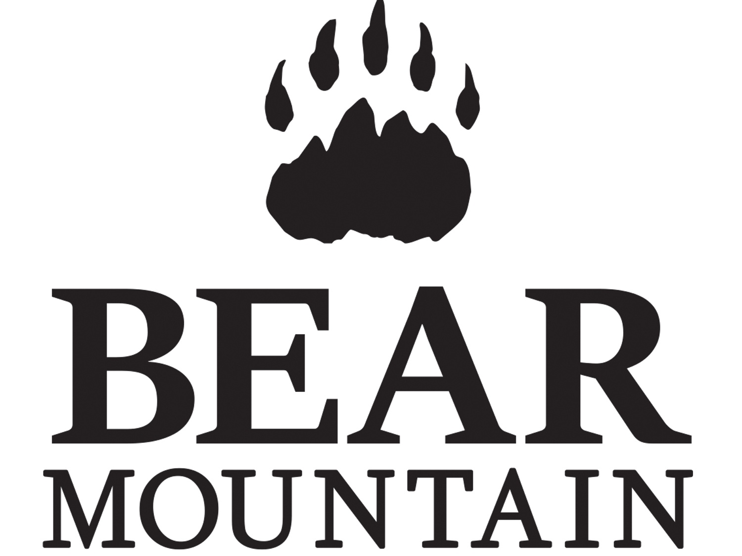 Bear Mountain Logo mountain bear lodge outdoors logo outdoors white black black and white logo logo design graphic