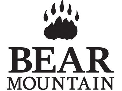 Bear Mountain Logo mountain bear lodge outdoors logo outdoors white black black and white logo logo design graphic