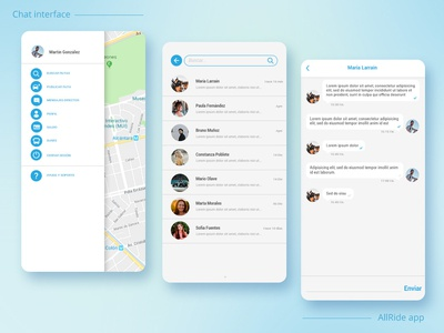 Chat interface - Carpool app