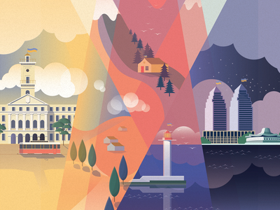 Ukraine Shot illustration flat design ukraine ios cute fun texture nature sea city vector