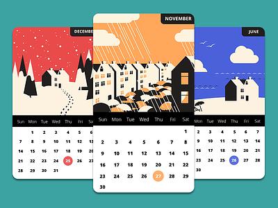 Calendar App calendar flat design app ios ios7 ui interface ux apple android colors