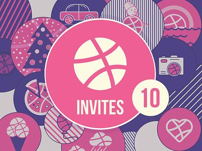 Dribbble Invites invite invitation dribbble design app ios icons ui christmas ux apple android