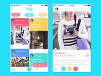 Saily App interface ux ui colors event ios8 ios design app material icon