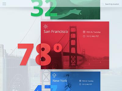 Weather Concept design colors interface minimal app webdesign web ukraine flat ux ui