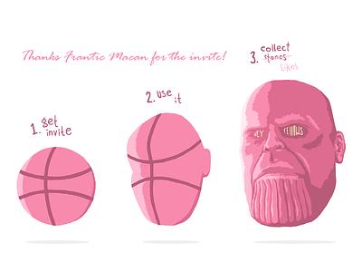 Thanos says thanks marvelcomics invite marvel thanos ui design illustration