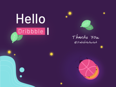 Hello, Dribbble! by remaginz dribbble ball illustration first shot dribbble