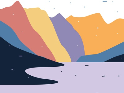 crayon lands 01 travel mountains drawing flat graphic design illustration illustrator minimal design