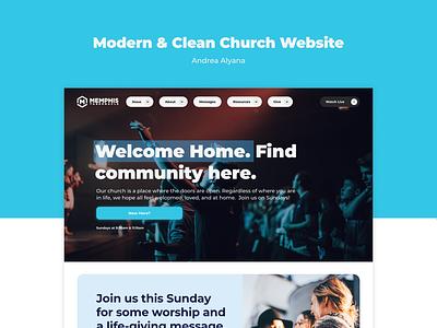 Clean Church Website Design christian church church website app icon design ux logo branding ui