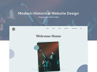 Modern-Traditional Church UI ux logo ui design church website church branding christian