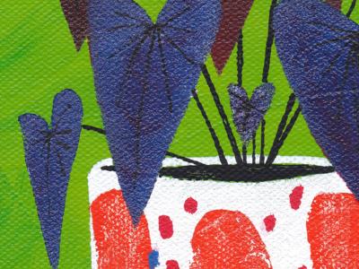 Anthurium Detail texture paintings plant illustration colorful illustration