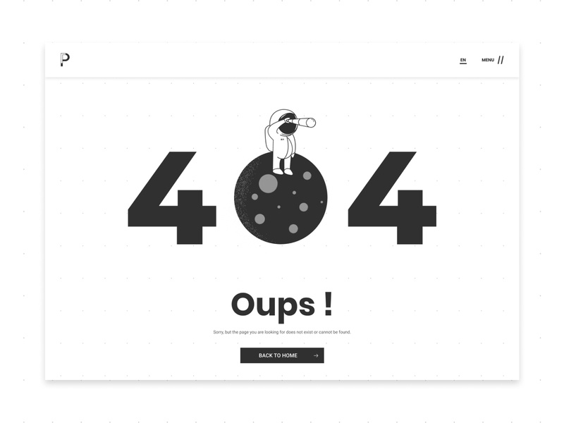 404 - Web Page Error space astronaut daily ui website web design webdesign 404 error page 404 page 404 interface illustration designs designer design uidesign interfacedesign ux ui 008 dailyui