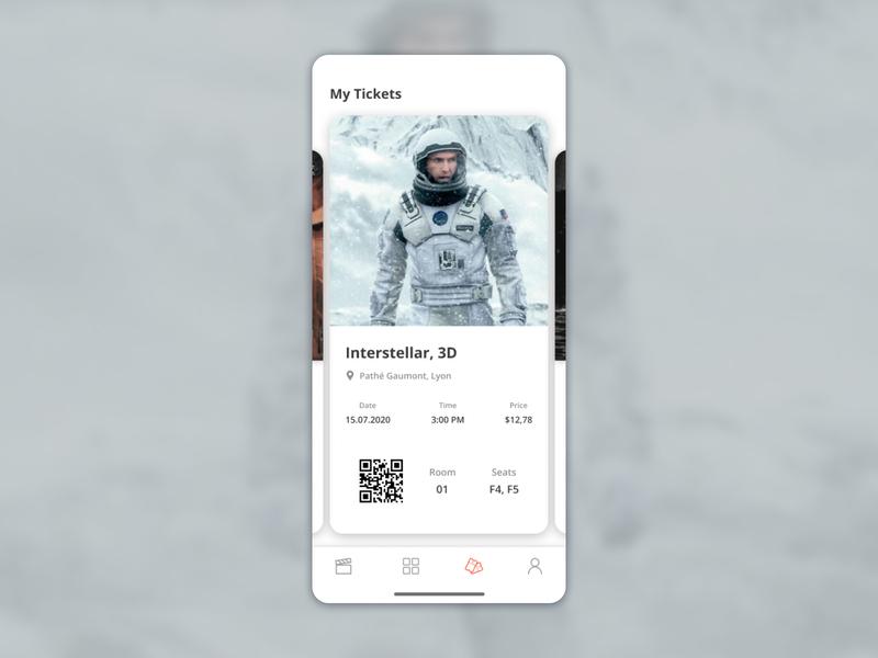 Cinema Ticket App interstellar application cinema film ticket app ticket appdesigner appdesign ios designs app interface designer design uidesign interfacedesign ux ui 017 dailyui