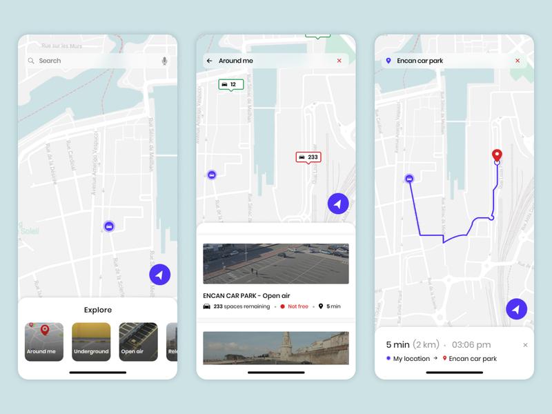 Car Park Location position parking app gps map location tracker location app locations location uxdesign figma ios app designer design uidesign interfacedesign ux ui 020 dailyui