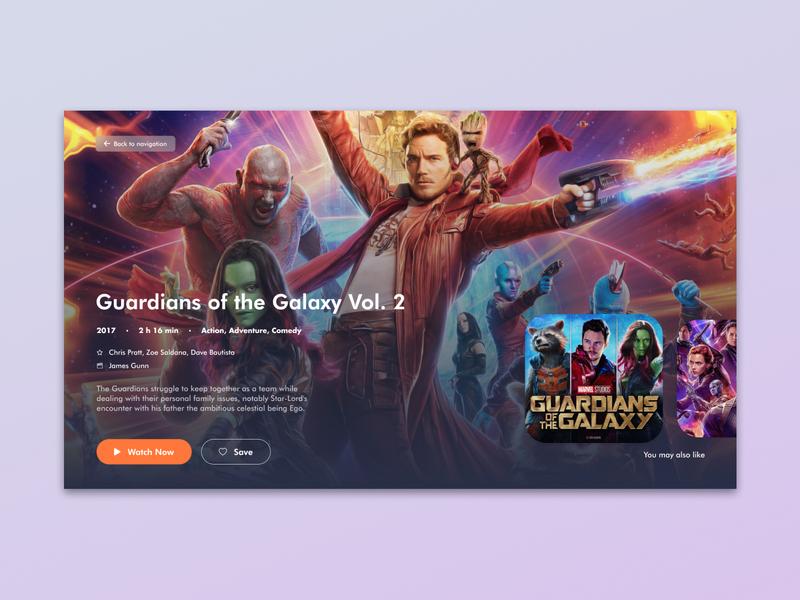 TV App app design avengers guardiansofthegalaxy tv series tv shows tv app tv cinema designs app interface designer design uidesign interfacedesign ux ui 025 dailyui