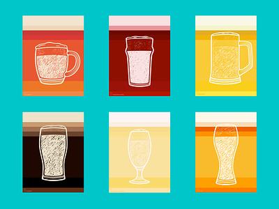 Beer posters poster beer art craftbeer minimal vector illustration guinness ale pub irish alcogol craft dark beer cherry beer beer