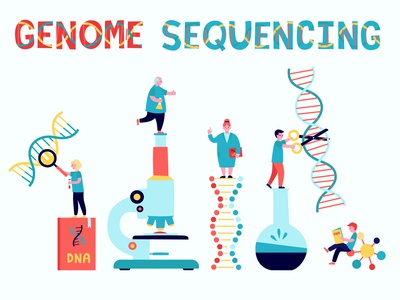 Genome sequencing scientist science laboratory biology dna genome sequencing sequencing genome