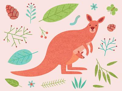 Kangaroo kangaroo pouch tail endemic animal kangaroo australian australia child baby bag mother