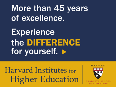 Harvard Graduate School of Education Web Advertisement