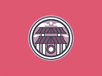 Asian District Icon map oklahoma city okc vector flat illustration flat design district logo circle iconographer iconography icon city illustration design agency icon set icons asian district city icon
