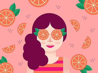 Vitamin C pool day summer snacks wedges orange slices orange life pink girl naranja media naranja woman oranges