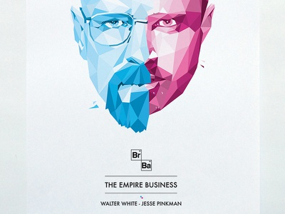 The Empire Business walter white jesse pinkman breaking bad geometric poster
