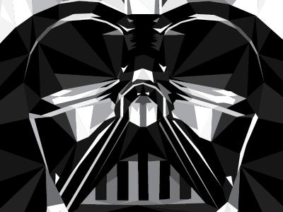 The Dark Side darthvadar starwars illustration illustrator geometric art artwork poster